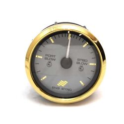 Faria Boat Engine Sync Gauge Sy761a   3 1/4 Inch Gold Gray
