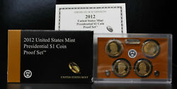 2012-s Us Presidential 1 Coin Proof Set 1hhj