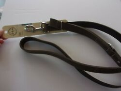 Gray Suede Leather Bond And Co Dog Leash 5 Ft New High Quality