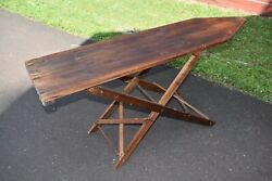 Antique Vintage Primitive Folding Wooden Ironing Board - Local Pickup Only