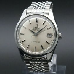 Omega Seamaster Chronometer Antique 1969 Cal.564 Date Vintage Antique Watch F/s