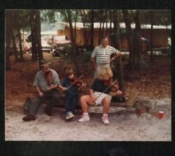 Vintage Photograph Family Group of People Playing Violins