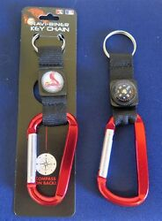 Two 2 Beautiful, St Louis Cardinals Carabiner Compass Keychains From Rico