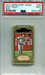 2012 Topps Gypsy Queen Mike Trout Green Mini Sp 336 Psa 9 Angels