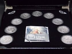2016 10 Cook Islands Norse Gods 2oz Silver Coin Antique Finish Box And Coaand039s Cf
