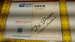Piper Tri-pacer Pa-22-160 150 Ownerand039s Handbook Manual Free Shipping Vintage Usa