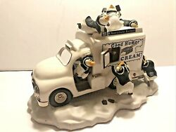 Franklin Mint Good Humor Ice Cream Truck With Penguins Animated Music Box