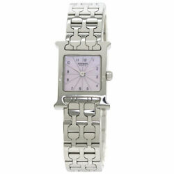 Hermes H Watch Mini Watches Hh1.110 Stainless Steel/stainless Steel Ladies