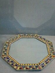 Partylite Global Fusion Mirror Tray Mosaic, 12