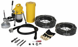 Steel Dragon Tools® K-50 Drain Cleaner Cleaning Machine With 130' C8 Cable 58980