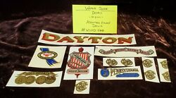 Lot Of Damaged Or Flawed Antique Scale And Coin Machine Decals Wsfd400