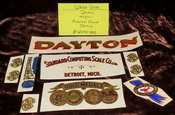 Lot Of Damaged Or Flawed Antique Scale And Coin Machine Decals Wsfd401