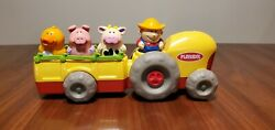 Playskool 2002 Old Mcdonald's Fun Tunes Musical Tractor With Farmer And Animals