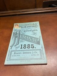 Hartford Connecticut Courant Almanac For 1885 Amazing Vintage Ads Advertising
