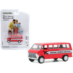 1968 Ford Club Wagon Bus Airport Express Shuttle Red With White Stripe Norman...