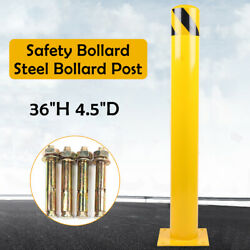 Q235 Steel Barrier Security Driveway Post Safety Bollard Post Yellow Signs Pipe