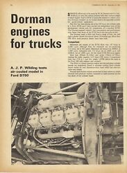 Magazine Extract 1967 Dorman Diesel Engine Tested - Commercial Motor Road Test