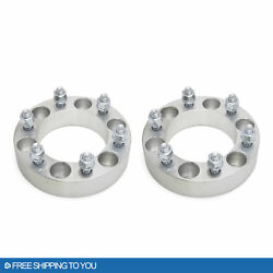Wheel Spacer Adapters 6x5.5   12x1.5 1.5 Thick Stud Fits All 6 Lug Pickup 2pcs