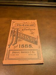 Hartford Connecticut Courant Almanac For 1888 Amazing Vintage Ads Advertising