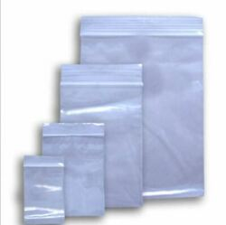 100 X Small Clear Plastic Bags Baggy Grip Self Seal Resealable Zip Lock New Bag