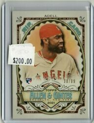 Jo Adell 2021 Topps Allen And Ginter Rip Card Angels D 30/99 Rookie Rc