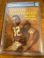 September 26 1960 Jim Brown First Rc Sports Illustrated No Label Cgc 6.0