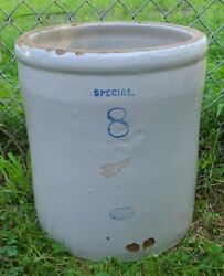 Antique Vintage Red Wing Special 8 Gallon Stoneware Crock Redwing Minn Potteries