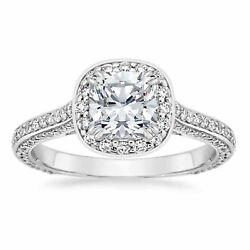 1.35 Ct Brilliant Cut Real Diamond Rings Solid 14kt White Gold Band Size H K N