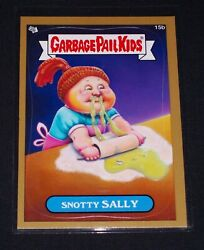 Garbage Pail Kids 2012 Brand New Series 1 Gold Parallel 15b Snotty Sally - Bns1