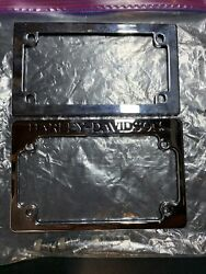Harley Davidson Motorcycle Chrome License Plate Covers With 4 Bolts