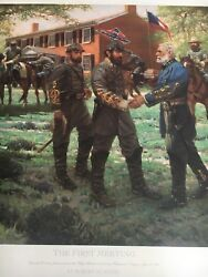 Robert Summers -the First Meeting Canvas Giclee Collectible Civil War Print