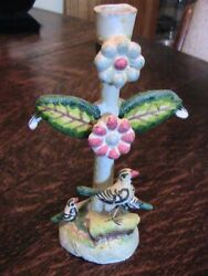 Vintage Mexican Tree Of Life Candle Holder - 5 1/2 - Castillo