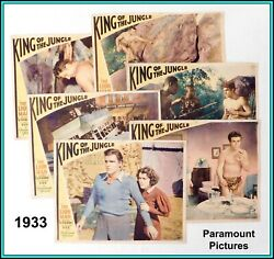 Set Of 6 Us Original Lobby Cards Of Buster Crabbe In Andldquoking Of The Jungle 1933