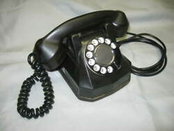 Vintage Automatic Electric Black, Monophone, Dial, Telephone