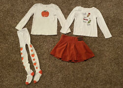 Gymboree Girls Pumpkin Picking Fall Forest Festival Homecoming Outfit Lot Size 6