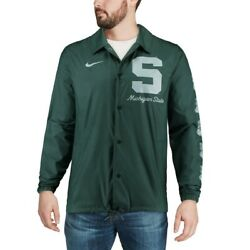 Michigan State Spartans Nike Replica Coaches Performance Full-snap Jacket