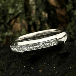 1.00 Ct Real Diamond Engagement Ring 14k Solid White Gold Men's Band Size 9 10