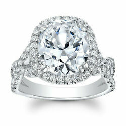Hallmarked Solid 950 Platinum Band 1.30 Ct Real Diamond Engagement Ring Size 6 5