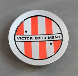 1 New Victor Wheel Vic Multi Silver And Red Cap Pop In Closed Center Ccvic