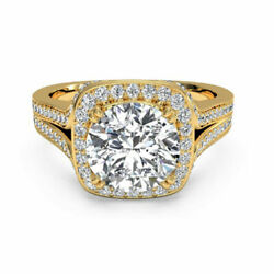 0.90 Ct Real Diamond Engagement Wedding Rings 14k Solid Yellow Gold Womens Bands