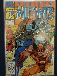 The New Mutants 94 Classic Wolverine Cable Liefeld Cover Vf/nm