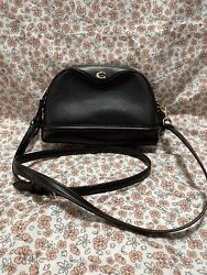 New Coach Leather Dome Classic Black Crossbody Shoulder Bag f76673 $89.00
