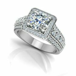 Round Cut 1.02 Ct Real Diamond Womenand039s Engagement Ring 950 Platinum Size 5 6 7 8