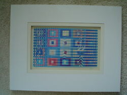 Agam Original Color Agamograph Gathering- Signed And Numbered 13/25 H.c.