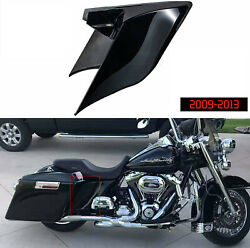 Glossy Black Stretched Side Covers Fit For Harley 2009-2013 Touring Motorcycle