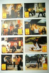 Bruce Lee Way Of Dragon Chuck Norris Miao Kung-fu 1972 8x Rare Exyu Lobby Cards