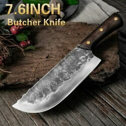 7.6inch Handmade Forged Kitchen Knife Butcher Meat Cleaver 5cr15 Stainless Steel