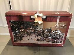 Kirkland Signature 37 Piece Porcelain Lighted Christmas Village In Box Holiday