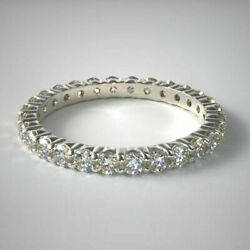 1.47 Carat Round Real Diamond Engagement Rings 14k Solid White Gold Size 5 6 7.5