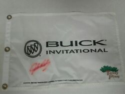 Buick Invitational Pin Flag Signed By John Daly At Torrey Pines Open Ryder Pga